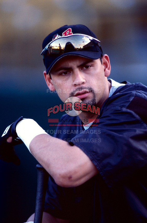 Jacob Cruz of the Buffalo Bison during the 1998 AAA Championship Series against the New Orleans Zephyrs at Cashman Field in Las Vegas, Nevada. (Larry Goren/Four Seam Images)