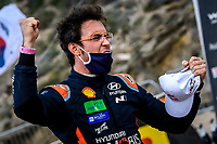 11th October 2020, Alghero, ‎Sardinia, Italy; WRC Rally of Sardinia;  THIERRY NEUVILLE who came home in 2nd place