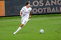 LOS ANGELES, CA - OCTOBER 25: Sacha Kljestan #16 of the Los Angeles Galaxy turns with the ball during a game between Los Angeles Galaxy and Los Angeles FC at Banc of California Stadium on October 25, 2020 in Los Angeles, California.