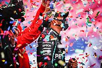 podium HAMILTON Lewis (gbr), Mercedes AMG F1 GP W11 Hybrid EQ Power+, portrait during the Formula 1 DHL Turkish Grand Prix 2020, from November 13 to 15, 2020 on the  Intercity Istanbul Park, in Tuzla, near Istanbul, Turkey  <br /> Formula 1 GP Turchia 15/11/2020<br /> Foto DPPI/Panoramic/Insidefoto <br /> ITALY ONLY