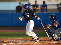 IMG Academy Ascenders Tommy White (34) bats during a game against the Jesuit Tigers on April 21, 2021 at IMG Academy in Bradenton, Florida.  (Mike Janes/Four Seam Images)