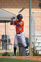 Houston Astros Miguelangel Sierra (38) during an instructional league game against the Atlanta Braves on October 1, 2015 at the Osceola County Complex in Kissimmee, Florida.  (Mike Janes/Four Seam Images)