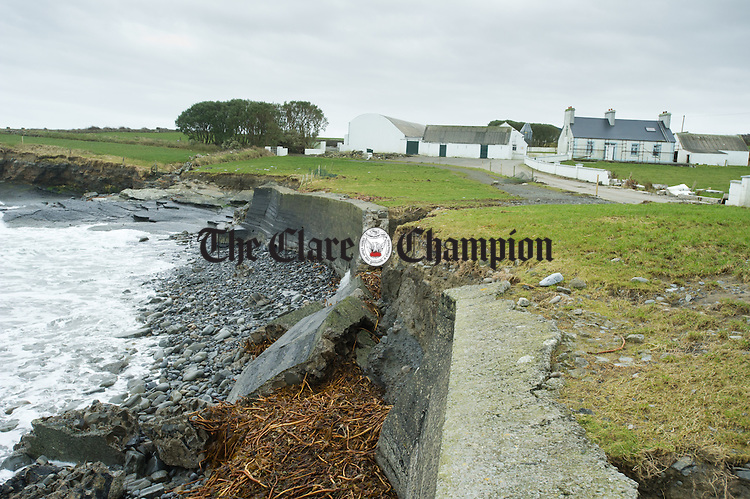 A view of some of the damage caused by the recent storm's at White Strand, Doonbeg. Photograph by John Kelly.