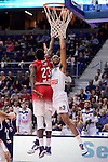 Real Madrid's Anthony Randolph and EA7 Emporio Armani Milan's Awudu Abass during Turkish Airlines Euroleage match between Real Madrid and EA7 Emporio Armani Milan at Wizink Center in Madrid, Spain. January 27, 2017. (ALTERPHOTOS/BorjaB.Hojas)