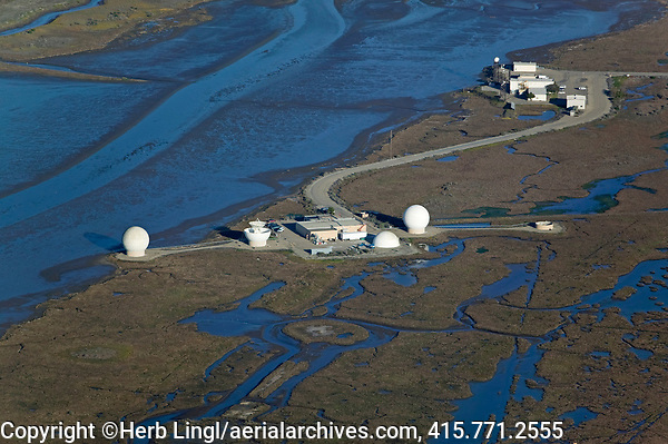 aerial photograph of Radar Reflectivity Laboratory Point, Mugu Naval Air Station, Ventura County,  California