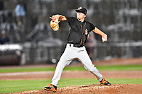 Northern Division pitcher Alex Wells (31) of the Delmarva Shorebirds delivers a pitch during the South Atlantic League All Star Game at Spirit Communications Park on June 20, 2017 in Columbia, South Carolina. The game ended in a tie 3-3 after seven innings. (Tony Farlow/Four Seam Images)
