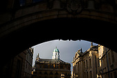 Oxford University<br /> Oxford, United Kingdom<br /> November 30, 2018<br /> <br /> The Sheldonian Theatre seen from the Bridge of Sighs.