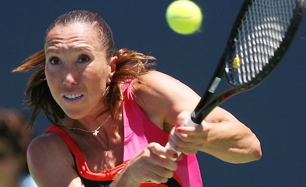 Z.tennis.6.0720.jl.jpg Jelena Jankovic  during a match against Yung-Jan Cha  Friday at Mercury Insurance Open women's tennis tournament held at La costa Resort and Spa in Carlsbad.  JAMIE SCOTT LYTLE  |  jlytle@nctimes.com