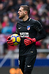 Goalkeeper Jan Oblak of Atletico de Madrid looks on during the La Liga 2017-18 match between Atletico de Madrid and Getafe CF at Wanda Metropolitano on January 06 2018 in Madrid, Spain. Photo by Diego Gonzalez / Power Sport Images
