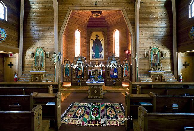 The interior of St. Volodymyr Ukrainian Catholic Church, Glen Spey, Sullivan County, New York