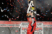 NASCAR Camping World Truck Series<br /> Buckle Up In Your Truck 225<br /> Kentucky Speedway, Sparta, KY USA<br /> Friday 7 July 2017<br /> Christopher Bell, Toyota Toyota Tundra celebrates in victory lane <br /> World Copyright: Logan Whitton<br /> LAT Images