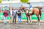 "OCT10, 2020 :Jackie's Warrior with Joel Rosario aboard, wins the ""Win & You're In""   Grade 1 Champagne Stakes, for 2-year olds, at Belmont Park, Elmont, NY.  Sue Kawczynski/Eclipse Sportswire/CSM"