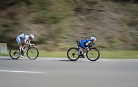Petr Vakoc  (CZE/Quick-Step Floors) & Boris Vallée (BEL/Fortuneo-Oscaro) speeding<br /> <br /> Binche-Chimay-Binche 2017 (BEL) 197km<br /> 'Mémorial Frank Vandenbroucke'