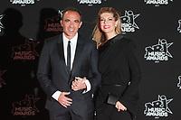 Nikos Aliagas et Tina Grigoriou arrivent sur le Tapis Rouge / Red Carpet avant la Ceremonie des 19 EME NRJ MUSIC AWARDS 2017, Palais des Festivals et des Congres, Cannes Sud de la France, samedi 4 novembre 2017.