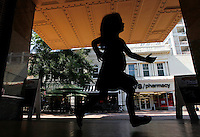 Ava Grey Shurtleff on the downtown mall in Charlottesville, Va, June 10, 2012. Photo/Andrew Shurtleff