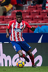 Thomas Teye Partey of Atletico de Madrid in action during the La Liga 2017-18 match between Atletico de Madrid and Getafe CF at Wanda Metropolitano on January 06 2018 in Madrid, Spain. Photo by Diego Gonzalez / Power Sport Images