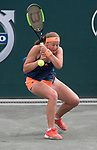 April 8,2017:  Jelena Ostapenko (LAT) defeated Mirjana Lucic-Baroni (USA) 6-3, 5-7, 6-4, at the Volvo Car Open being played at Family Circle Tennis Center in Charleston, South Carolina.  ©Leslie Billman/Tennisclix/Cal Sport Media