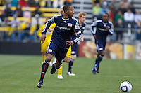 8 MAY 2010:  New England Revolutions' Cory Gibbs (12) during MLS soccer game between New England Revolution vs Columbus Crew at Crew Stadium in Columbus, Ohio on May 8, 2010. The Columbus defeated New England 3-2.