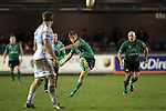 Niall O'Connor attempts a penalty for Connacht..RaboDirect Pro12.Cardiff Blues v Connacht.Cardiff Arms Park..10.02.12.©Steve Pope