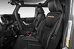 Jeep Wrangler Sahara Unlimited 2013 Front Seat Stock Photo