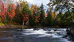 Oxtongue river. Beautiful panoramic fall nature scenery. Algonquin, Muskoka, Ontario, Canada.