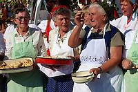Women fron Nagrecse in traditional dress - Hungarian Regional Gastronomic Festival 2009 - Gyor ( Gy?r ) Hunga