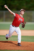 Eric Yost (29) during the WWBA World Championship at the Roger Dean Complex on October 12, 2019 in Jupiter, Florida.  Eric Yost attends Fordham Preparatory High School in Ossining, NY and is committed to Northeastern.  (Mike Janes/Four Seam Images)