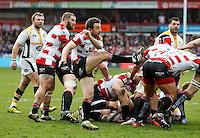 Photo: Richard Lane/Richard Lane Photography. Gloucester Rugby v Wasps. Aviva Premiership. 05/03/2016. Gloucester's Greig Laidlaw.
