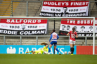 7th February 2021; Leigh Sports Village, Lancashire, England; Women's English Super League, Manchester United Women versus Reading Women; Goalkeeper Grace Moloney of Reading makes a save
