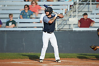 Tristan Shea (15) (North Carolina Central) of the Carolina Venom at bat against the Mooresville Spinners at Moor Park on June 22, 2020 in Mooresville, NC.  The Spinners defeated the Venom 7-2. (Brian Westerholt/Four Seam Images)