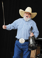 "06 July 2020 - Country music and southern rock legend Charlie Daniels has passed away after suffering a stroke. The Grand Ole Opry member and Country Music Hall of Famer was 83. File Photo: 18 July 2010 - Morristown, Ohio - Country music legend CHARLIE DANIELS performs on day 4 of ""Jamboree In The Hills 2010"" also known as the ""Super Bowl of Country Music"". Photo Credit: Jason L Nelson/AdMedia"