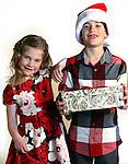 WATERBURY CT. 22 November 2016-112316SV02-Christmas Kid. <br /> Brooklyn Hahn, 5, and her brother Landon Hahn, 8, of Litchfield.<br /> Steven Valenti Republican-American