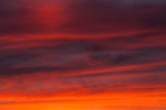 Sunset with stratocumulus clouds in dramtic sky