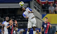 Arlington, TX - Saturday July 22, 2017: Kellyn Acosta during a 2017 Gold Cup Semifinal match between the men's national teams of the United States (USA) and Costa Rica (CRC) at AT&T stadium.