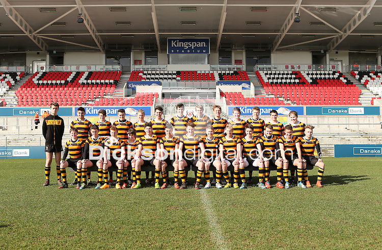 MEDALLION SHILED FINAL   Monday 10th March 2015<br /> <br /> The RBAI team us Wallace HS during the 2015 Ulster Schools Medallion Shield Final at the Kingspan Stadium, Ravenhill Park, Belfast.<br /> <br /> Picture credit: John Dickson / DICKSONDIGITAL