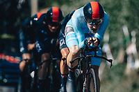 7th September 2021: Llandeilo, Wales:The AJ Bell Tour Of Britain 2021. Stage 3 Llandeilo to National Botanic Garden of Wales. Team Time Trial.