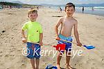 Eoin and Ronan Corridan from Kilmoyley enjoying the beach in Banna on Saturday