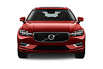Car photography straight front view of a 2018 Volvo XC60-Hybride-Rechargeable Inscription-4wd 5 Door SUV Front View