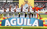 MANIZALES-COLOMBIA, 20-04-2019: Jugadores de Once Caldas, posan para una foto, antes de partido de la fecha 17 entre Once Caldas y La Equidad, por la Liga Águila I 2019, jugado en el estadio Palogrande de la ciudad de Manizales. / Players of Once Caldas, pose for a photo, prior a posponed match of the 17th date between Once Caldas and La Equidad, for the Aguila Leguaje I 2019 played at the Palogrande stadium in Manizales city. / Photo: VizzorImage / Santiago Osorio / Cont.