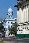 Myanmar, (Burma), Yangon Region, Rangoon: Former Law Court and Myanmar Economic Bank building on Strand Road | Myanmar (Birma), Yangon-Division, Rangun: das ehemalige Gerichtsgebaeude und die Myanmar Economic Bank auf der Strand Road