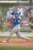 Robert Moore (3) during the WWBA World Championship at the Roger Dean Complex on October 13, 2019 in Jupiter, Florida.  Robert Moore attends Shawnee Mission East High School in Leawood, KS and is committed to Arkansas.  (Mike Janes/Four Seam Images)