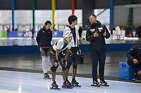 SPEEDSKATING: 22-11-2019 Tomaszów Mazowiecki (POL), ISU World Cup Arena Lodowa, Dennis van der Gun (trainer/coach JPN), ©photo Martin de Jong
