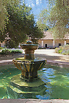 Conserving scarce water resources, the spanish recycled used bath and kitchen water to this fountain for use in laundry,  at Mission La Purisima State Historic Park, Lompoc, California.  Mission La Purisima, founded in 1787 by Franciscan Padre Presidente Fermin Francisco Lasuen. La Purisima was the eleventh mission of the twenty-one Spanish Missions established in what later became the state of California.