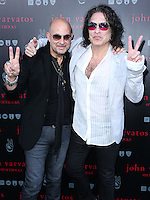 WEST HOLLYWOOD, CA, USA - SEPTEMBER 21: John Varvatos, Paul Stanley arrive at the John Varvatos #PeaceRocks Ringo Starr Private Concert held at the John Varvatos Boutique on September 21, 2014 in West Hollywood, California, United States. (Photo by Xavier Collin/Celebrity Monitor)