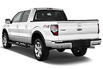 Front three quarter view of a .  2013 Ford F150 FX4 crew cab