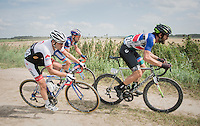 Dan Craven (NAM/Cycling Academy) charging on the dirt roads of the 91st Schaal Sels 2016
