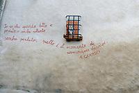 Orgosolo, Nuoro, 2 Gennaio 2018<br /> Antonio Gramsci.<br /> Il piccolo centro della Barbagia famoso per i dipinti che adornano le vecchie case del centro storico,e gli edifici di nuova costruzione, piazze e muri del paese. I Murales di Orgosolo narrano di storia, di politica, di vita quotidiana, e di tradizione e di Sardegna.