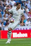 Real Madrid's Kleper Lima Ferreira Pepe during the match of La Liga between Real Madrid and SD Eibar at Santiago Bernabeu Stadium in Madrid. October 02, 2016. (ALTERPHOTOS/Rodrigo Jimenez)