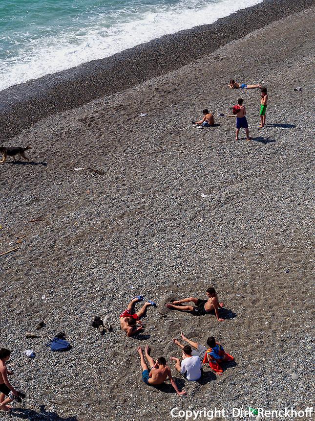 Strand von Kobuleti, Adscharien - Atschara, Georgien, Europa<br /> beach, Kabuleti,  Adjara,  Georgia, Europe
