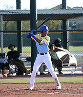 "Menelik ""Izzy"" Israel takes part in the 2020 Under Armour Pre-Season All-America Tournament at the Chicago Cubs training complex and Red Mountain baseball complex on January 18-19, 2020 in Mesa, Arizona (Bill Mitchell)"